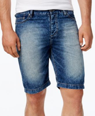 Calvin Klein Jeans Men's Uneven Indigo Denim Shorts