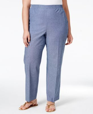 Alfred Dunner Plus Size St. Augustine Collection Chambray Pants