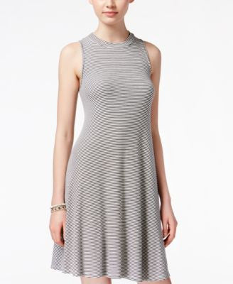 American Rag Striped Knit A-Line Dress, Only at Vogily