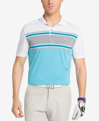 Izod Men's Engineered Stripe Performance Golf Polo