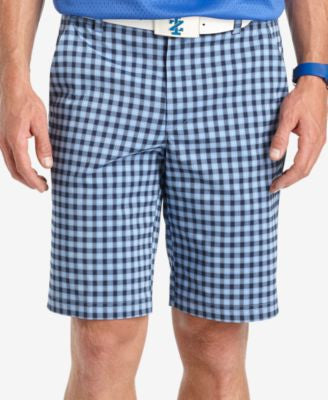 Izod Men's Moisture-Wicking Plaid Golf Shorts