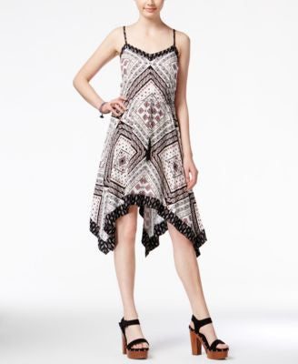 American Rag Printed Handkerchief-Hem Dress, Only at Vogily