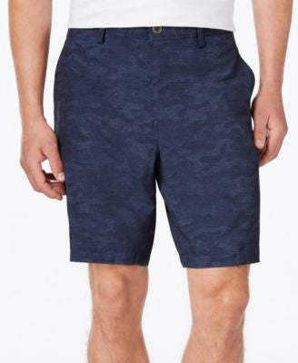 32 Degrees Men's Stretch 9 Printed Flat-Front Shorts""