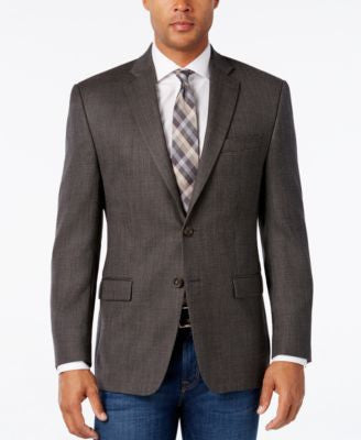 Lauren Ralph Lauren Men's Classic-Fit Gray and Brown Neat Sport Coat