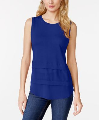 MICHAEL Michael Kors Petite Sleeveless Tiered Top
