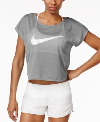 Nike City Cool Swoosh Logo Cropped Running Top