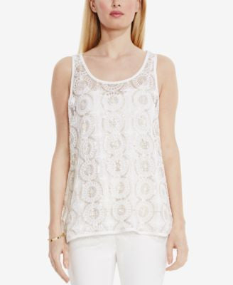 Vince Camuto Sleeveless Sequined Top
