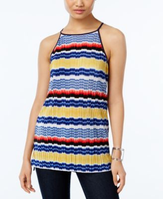 Vince Camuto Striped Halter Tank Top