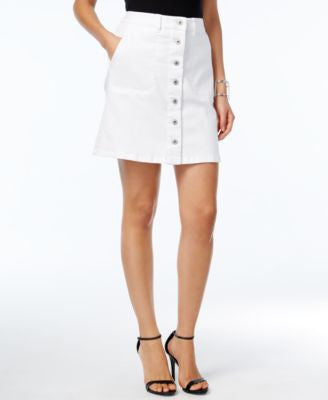 TWO by Vince Camuto Button-Front Denim Skirt