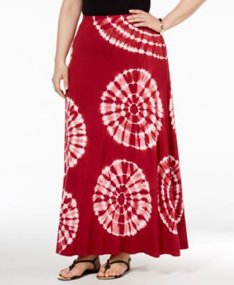 INC International Concepts Plus Size Tie-Dyed Maxi Skirt, Only at Vogily