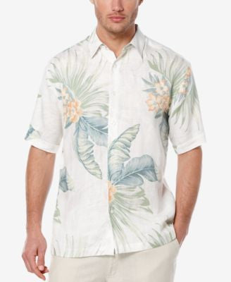 Cubavera Men's Linen Tropical-Print Short-Sleeve Shirt
