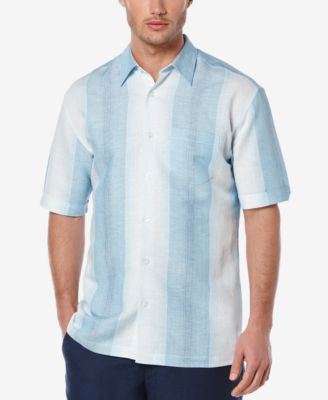Cubavera Men's Linen Stripe Short-Sleeve Shirt