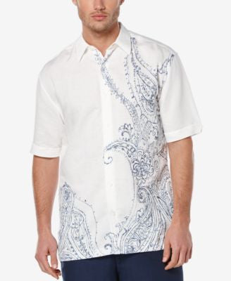 Cubavera Men's Paisley Embroidered Short-Sleeve Shirt