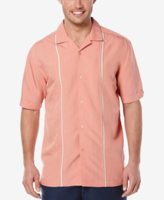 Cubavera Men's Pieced Short-Sleeve Shirt
