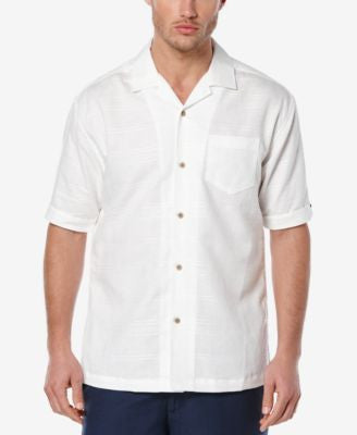 Cubavera Men's Linen Dobby Short-Sleeve Shirt