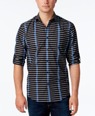 Alfani Men's Stripe Long-Sleeve Shirt, Classic Fit