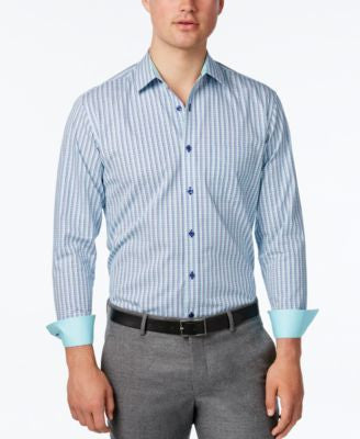 Tasso Elba Plaid Long-Sleeve Shirt