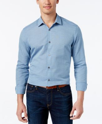 Alfani Men's Big and Tall Horizon Long-Sleeve Shirt, Only at Vogily