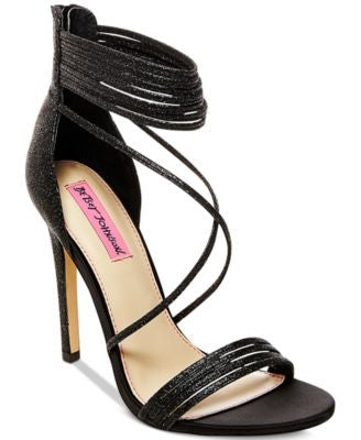 Betsey Johnson Kora Strappy Evening Sandals