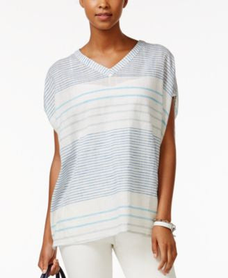 Tommy Hilfiger Striped V-Neck Top