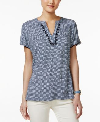 Tommy Hilfiger Short-Sleeve V-Neck Top