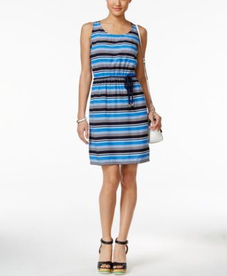 Tommy Hilfiger Sleeveless Tie-Waist Dress