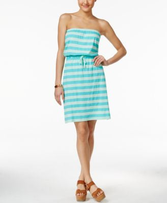 Tommy Hilfiger Striped Strapless Dress