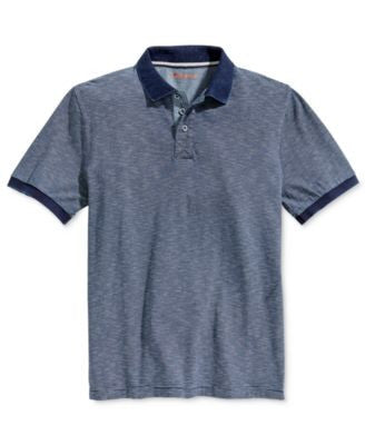 Weatherproof Men's Space-Dye Stripe Polo