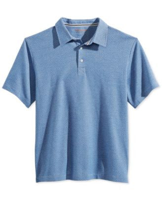 Weatherproof Men's Geo-Print Piqué Polo