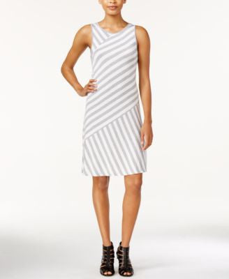 kensie Bias-Cut Striped Tank Dress