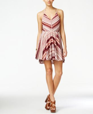 Jessica Simpson Nicola Printed Halter Fit & Flare Dress