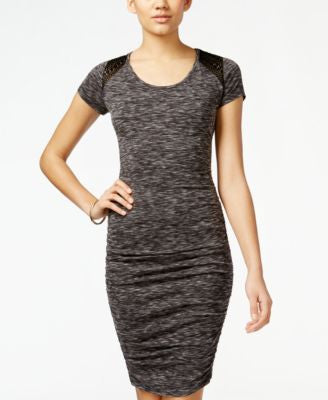 Jessica Simpson Brynn Short-Sleeve Bodycon Dress
