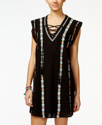 Jessica Simpson Brinley Embroidered Peasant Shift Dress