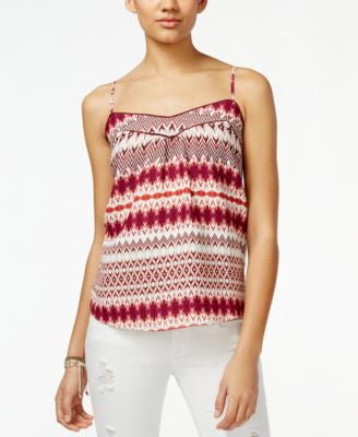 Jessica Simpson Shelby Ikat-Print Tank Top