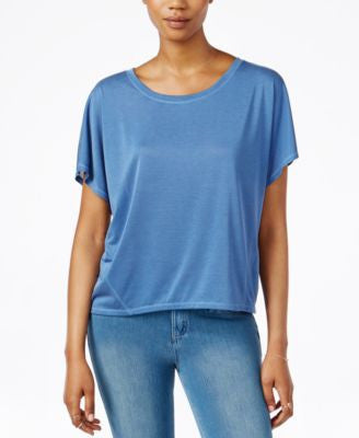 RACHEL Rachel Roy Split-Back Short-Sleeve Top
