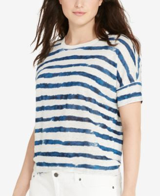 Lauren Ralph Lauren Plus Size Striped T-Shirt