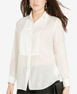 Lauren Ralph Lauren Plus Size Long-Sleeve Voile Shirt