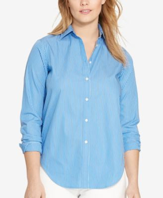 Lauren Ralph Lauren Plus Size Striped Shirt