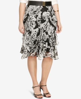 Lauren Ralph Lauren Plus Size Printed Skirt