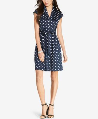 Lauren Ralph Lauren Polka-Dot Shirtdress