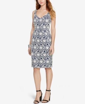 Lauren Ralph Lauren Petite Crocheted-Lace Dress