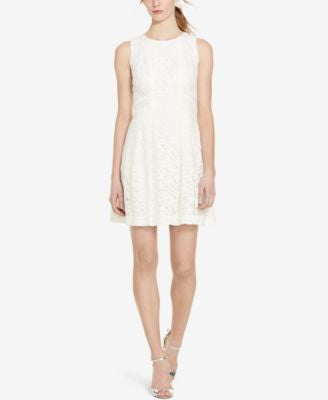 Lauren Ralph Lauren Petite Lace Fit & Flare Dress