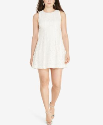 Lauren Ralph Lauren Plus Size Lace Fit & Flare Dress