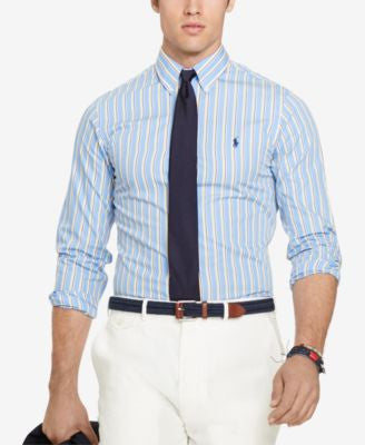 Polo Ralph Lauren Big & Tall Men's Striped Poplin Shirt
