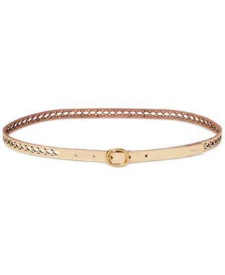Lauren Ralph Lauren Skinny Perforated Belt