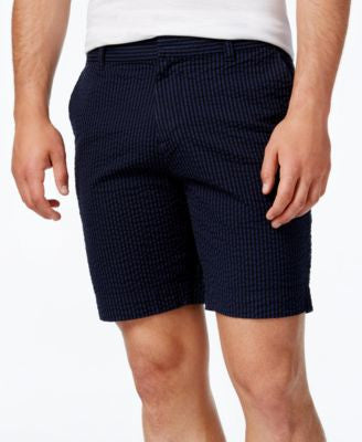Tommy Hilfiger Men's Zach Custom Fit Seersucker Stripe Shorts