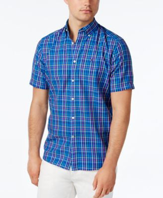 Tommy Hilfiger Men's Stover Check Short-Sleeve Shirt