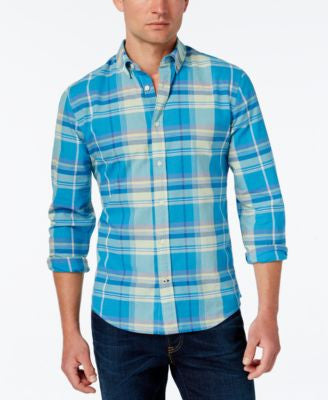 Tommy Hilfiger Men's Kirkwyn Madras Plaid Long-Sleeve Shirt
