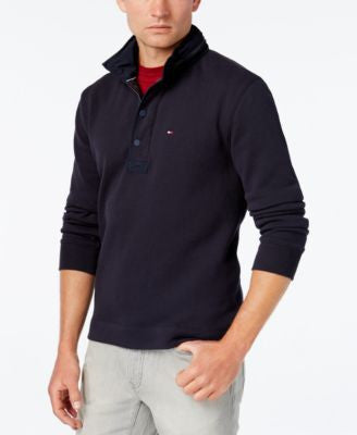Tommy Hilfiger Men's Villa Long-Sleeve Stand-Collar Hooded Shirt