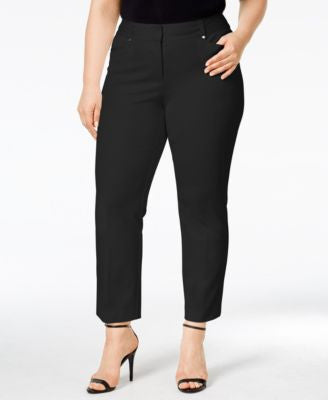 Alfani Plus Size Tummy-Control Cropped Pants, Only at Vogily